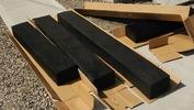 外構工事「門柱」(FRP枕木)1