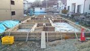 工事進捗(20140411)立上りコンクリート打設完了全景