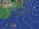 天気図(2012.8.13)21:00予想