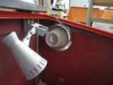 サンドブラストBOX(赤キャビ)改良完成(照明・エアフィルター)