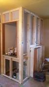 工事進捗(20140623)2F階段上物入れ&ミニキッチン