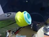 サンドブラストBOX(青キャビ)排気口接続部品-2