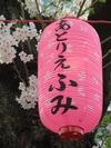 中野通り桜まつり2013(3.28)「あとりえふみ」提灯