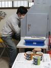 サンドブラスト「体験中」2012.2)