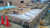 工事進捗(20140411)立ち上がりコンクリート打込み完了北東