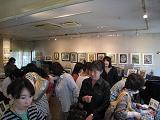 押し花アート展(盛況)