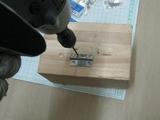 サンドブラストBOX(タイセイ)蝶番穴開け01