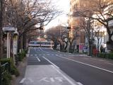 初日の出(2010.01.01)中野通り南
