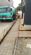 外構工事(20140918)3日目コンクリート打設1