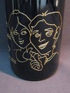 サンドブラスト作品(婚礼祝い2012.1)ワイン2