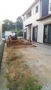 外構工事(20140916)1日目南「カーポート」
