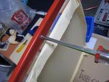 サンドブラストBOX(赤キャビ)覗き窓(枠取付)