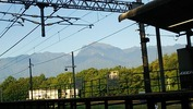 南アルプス(20140820)長坂駅上りホーム