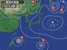 天気図(2012.8.21 03:00)