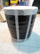 マグカップ(陶器:黒)マスク貼