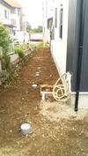 工事進捗(20140627)外部給排水、エコキュート設置場所