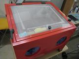 サンドブラストBOX(赤キャビ)視界不良01
