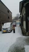降雪中(20150122)カーポート