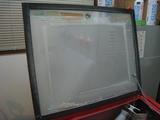 サンドブラストBOX(赤キャビ)視界不良02
