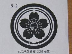 オリジナル工房「紋」制作(裏:丸に洋弐参桜に抱き松葉)