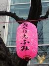 中野通り桜まつり2012(提灯「あとりえふみ」)