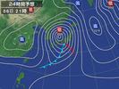 天気図(2013.4.6 2100)