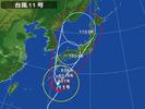 台風11号(20140808朝)