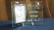 サンドブラスト作品(フォトフレーム縦)婚礼祝い201404