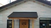 工事進捗(20140522)工房整体玄関庇板金仕上げ