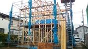工事進捗(20140420)構造部建て込み西面