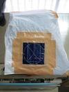 サンドブラスト作業(デニムジーンズ)袋養生「彫り前」