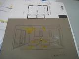 照明計画[寝室]パース(制作)