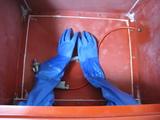 手袋(ブラストBOX用取り付け完了)