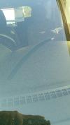 降灰(20140928)デイズフロントガラス