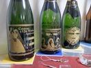 サンドブラストサンプル(ボトル)シャンパン3種