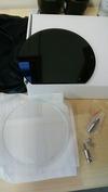 サンドブラスト素材(丸型ラウンド盾)梱包状態