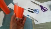 サンドブラスト「作業中」ガラス瓶(マスク段取り中)