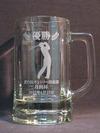 サンドブラスト作品(ビールジョッキ)北の杜CC月例杯(4月)