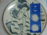 サンドブラスト作品(大皿:陶器)1