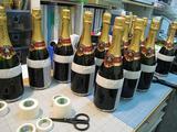 ボトル(シャンパン:マスク貼後養生)