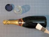 作業工程 -ボトル3(のり塗布)-