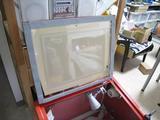 サンドブラストBOX(赤キャビ)覗き窓(パッキン取付)