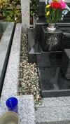 墓参(20141102)砂利敷き直し