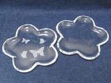 サンドブラスト体験(作品:2010.7)ガラス小皿