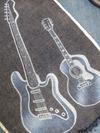 サンドブラスト「サンプル」(デニム布地)ギター