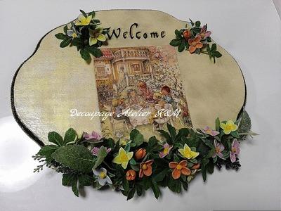 ウェルカムボード クレイの花