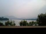 0610 杭州 西湖近くレストラン→外の景色
