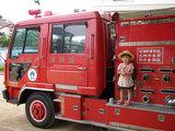 消防車も来たよ!