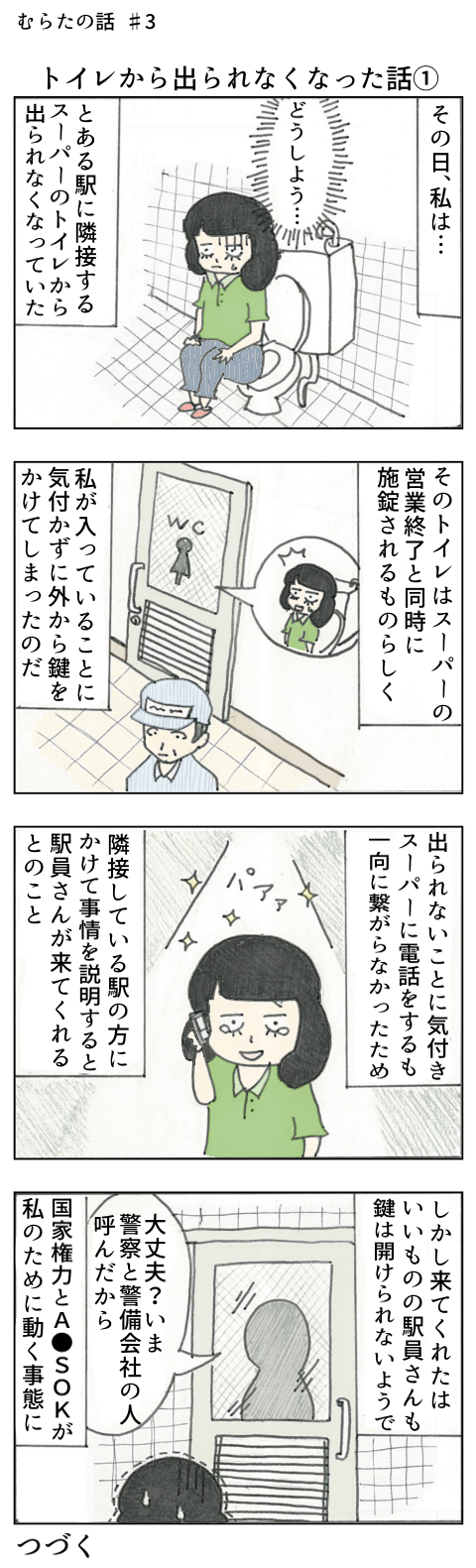 【むらたの話 #3】トイレから出られなくなった話①