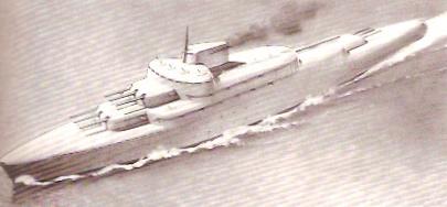streamlined warship - Otto Kuhler